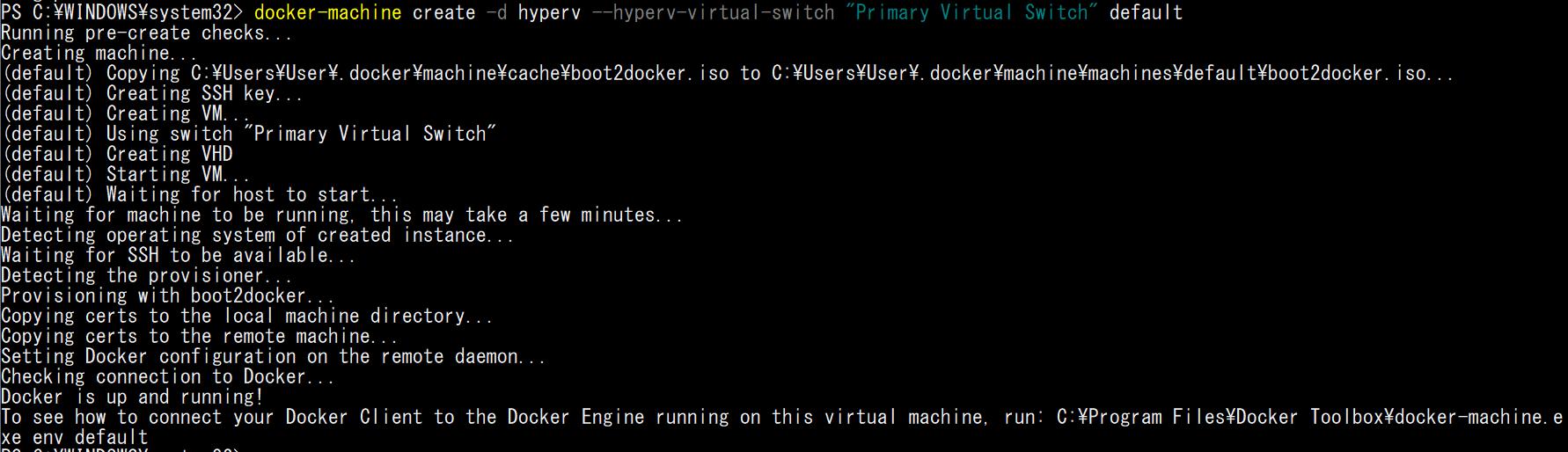 docker-machine-create